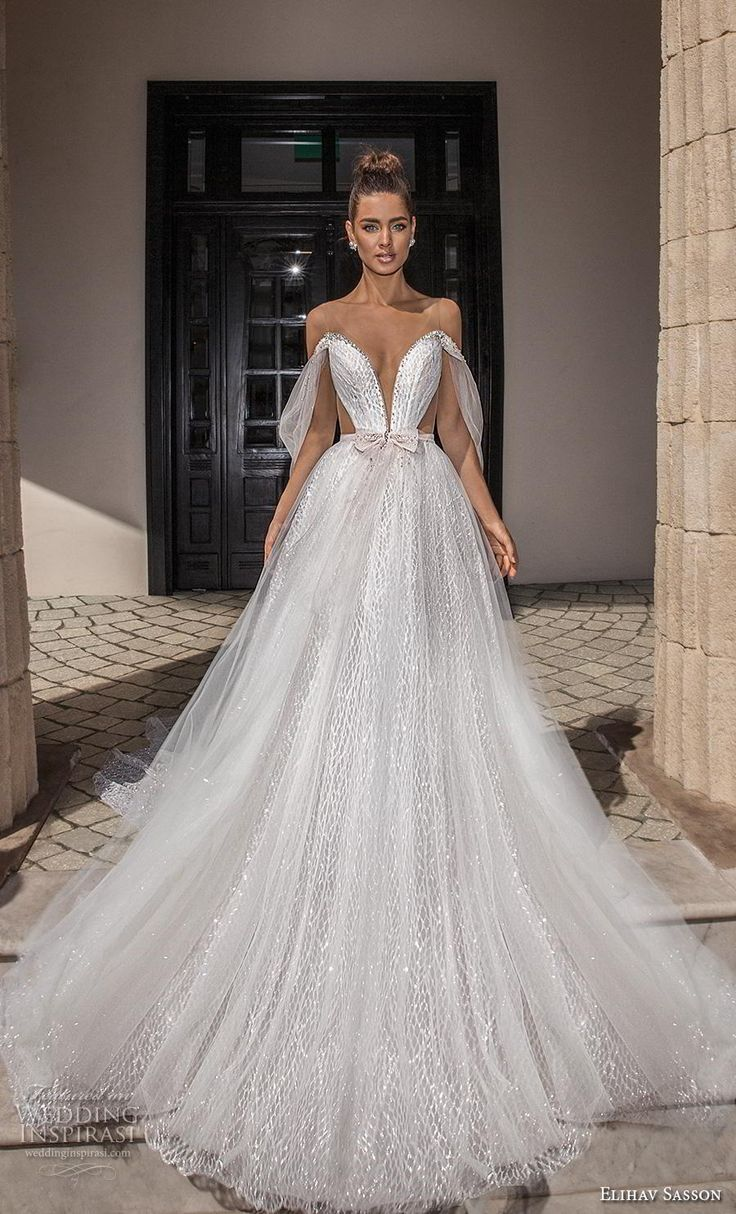 Weddinginspirasi.com featuring – elihav sasson 2019 bridal off the shoulder deep…