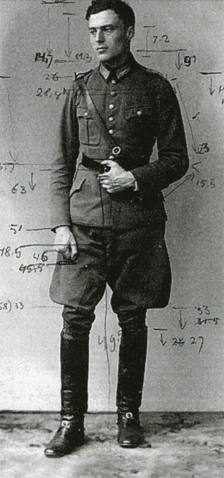 "vonstauffenberg: "" Claus von Stauffenberg. Larger, more detailed version of the photograph for the engineer's statue. Taken 1939. """