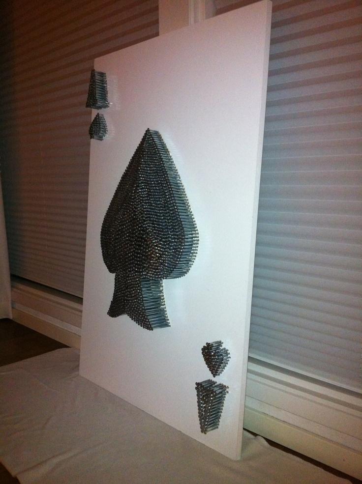 "Cli Stone Art, Card Series, ""Ace of Spades Screw Convex"" 120 cm x 80 cm x 10 cm www.clistone.com"