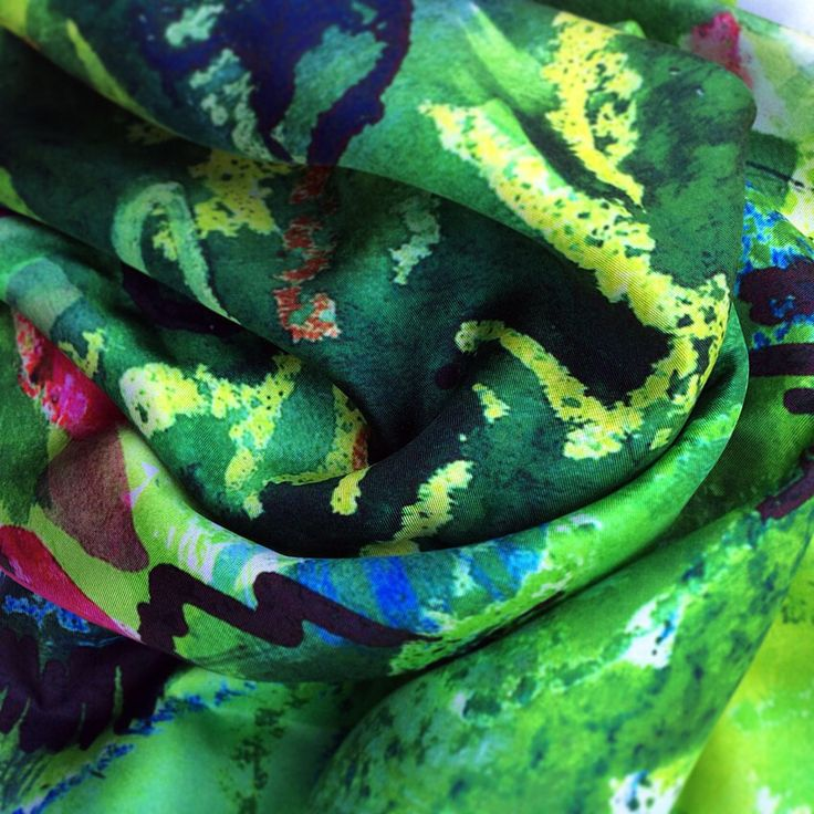 Detail of Watson West silk scarf, 'Summer Garden'. Available to purchase from our website soon!   Designed, printed and made in the UK.  www.watsonwest.com