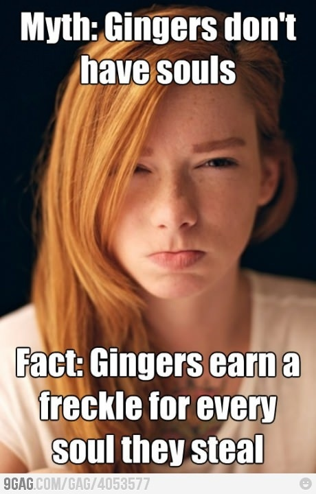 Myth and Fact about Gingers humor-me