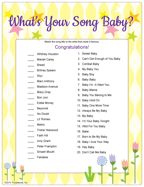 shower song fun baby shower games shower baby baby songs adult fun