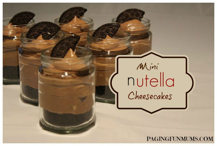 Mini Nutella Cheesecakes :http://pagingfunmums.com/2013/09/24/mini-nutella-cheesecakes/