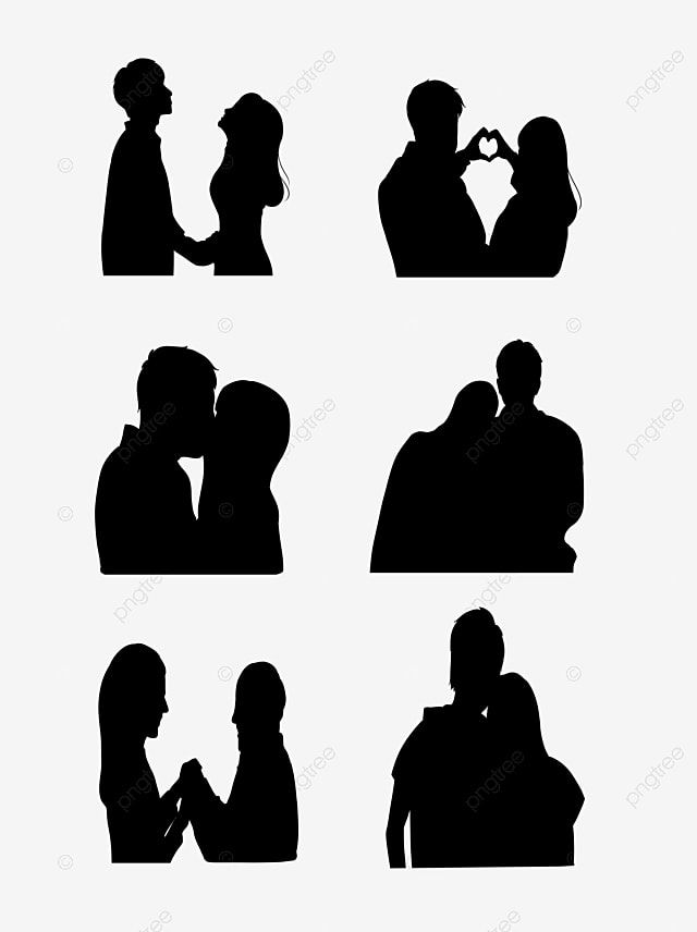 Black Couple Avatar Silhouette Vector Material Silhouette Character Couple Png Transparent Clipart Image And Psd File For Free Download Silhouette Vector Silhouette Black Couples