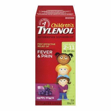 Children's Tylenol Fever & Pain 100ML Grape