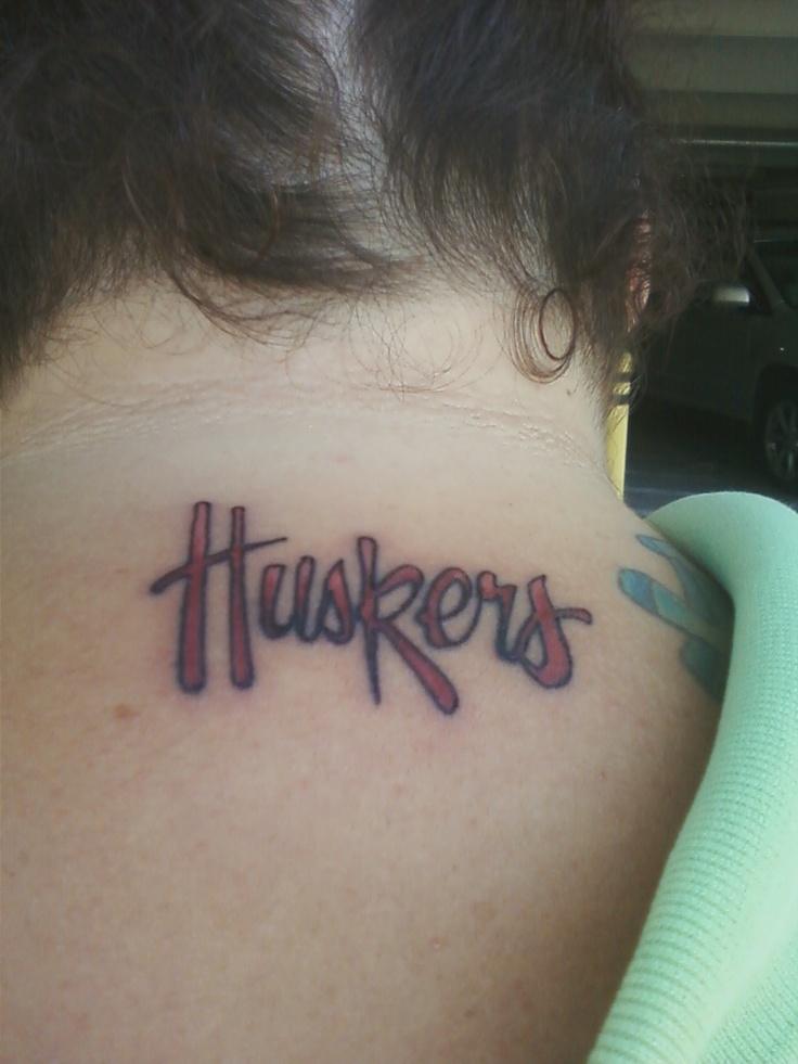My new Husker Tattoo Nebraska Spirit Pinterest