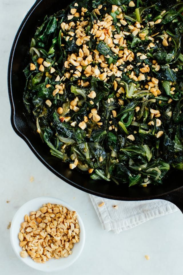 Classic collards may demand ham, but this recipe shows that vegetarian collards have a wonderful appeal all their own, thanks to a peppery vinaigrette.