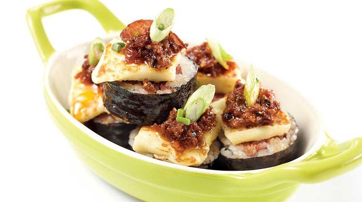 Maki au capicollo, aux tomates séchées et au fromage à griller de Geneviève Everell