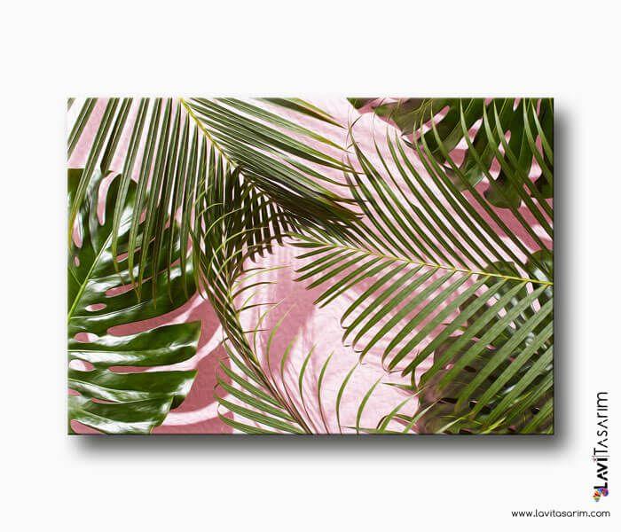 Palmiye Yapraklari Kanvas Tablo Bitki Tablolari Lavi Tasarim Tablolar Kanvaslar Tuval Resimleri