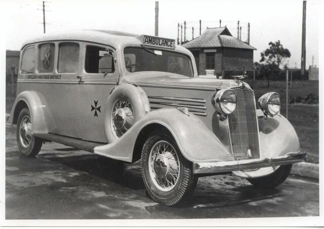 1934 Vauxhaul ambulance for the Kempsey,northern New South Wales area.Photo from Mike Taylor,ambulance officer at Forbes.A♥W