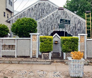 The Beer Can House, Houston, TX   18 years and 50,000 flattened beer cans later - a kitchy attraction