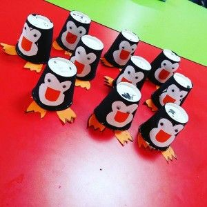 paper cup penguin craft (1)