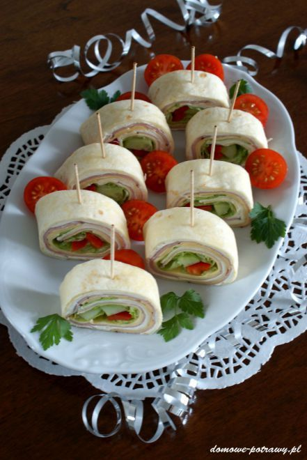 Mini Tortille Przekaska Na Impreze Przepisy Food Finger Foods