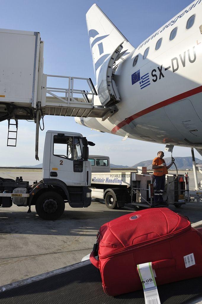 Από την προετοιμασία της πτήσης στο αεροδρόμιο της Αθήνας