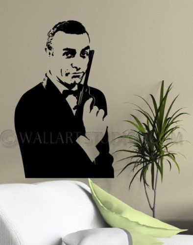 "James Bond Classic - Goldfinger - Sean Connery Wall Art Sticker ""shaken but not Stirred"""