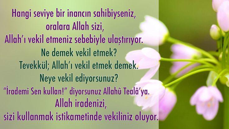 Îmânınızın seviyesi hangi kademedeyse Allahû Tealâ binayı o kademe üzeri...