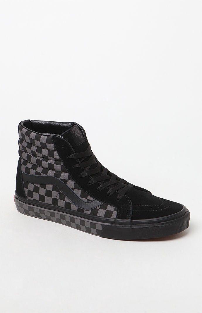 0b60378559 VANS Vans Sk8-Hi Reissue Checkerboard Black   Pewter Shoes.  vans  shoes