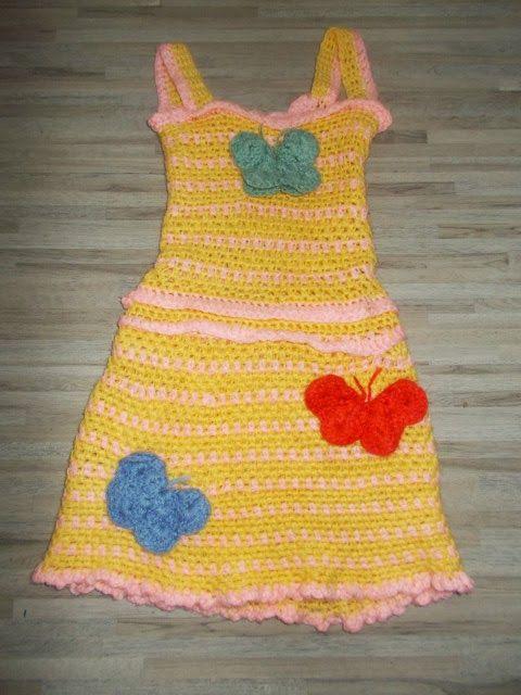 Πλεκτό φόρεμα αλά Σοφία/ Crochet girls dress