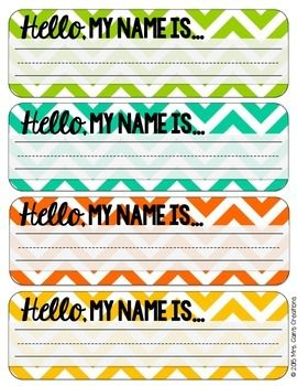 These editable chevron desk name tags will be the perfect addition to any chevron-themed classroom! These name tags come in 8 different colors, so no matter what your color scheme is, there should be a color to match! Just print, write your students' names, and attach to their desks!