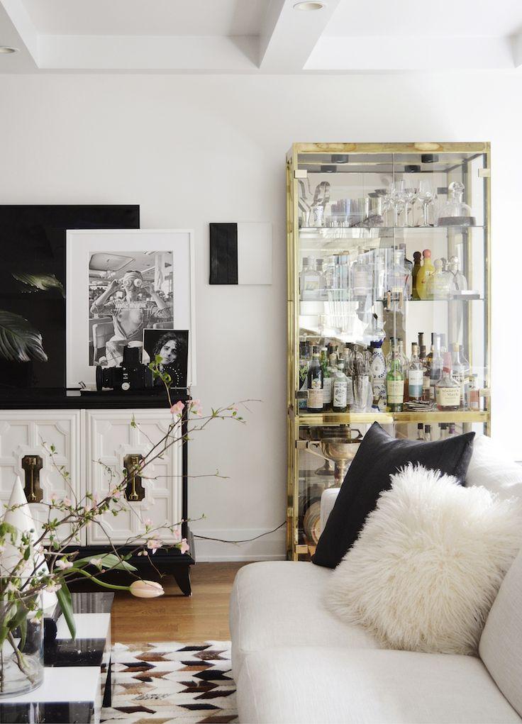 Black white gold for the home pinterest - Black white and gold room ...