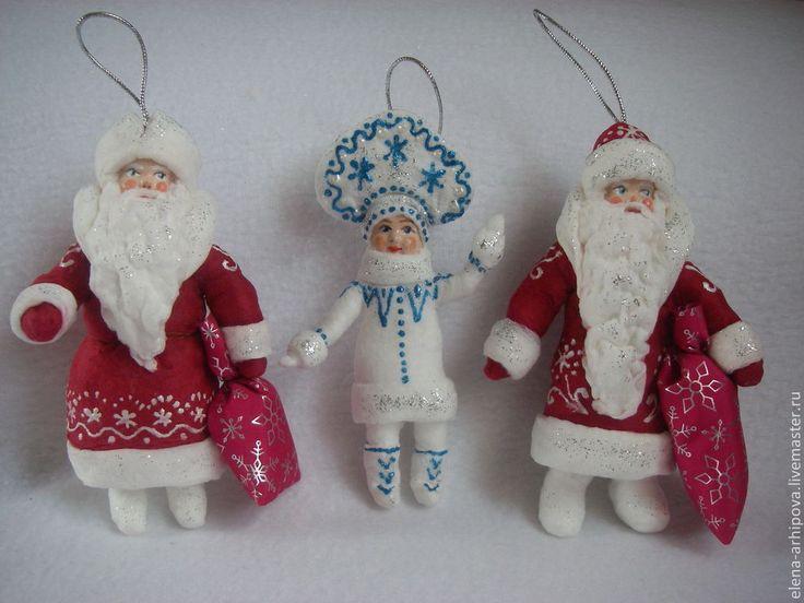 Купить Дед Мороз. Фигурка - ёлочная игрушка. - Новый Год, новогодний подарок, дедушка мороз