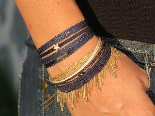 Bracelets Boréale et Scala marine doré By Garance