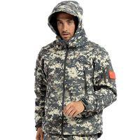 Mens Engranajes TAD soft shell chaquetas de lana impermeable A Prueba de Viento Hombres de camuflaje táctico militar del ejército ropa de la chaqueta de la marca