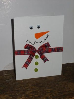 Skapeglede: Julekort. Tegne en snømann. DIY