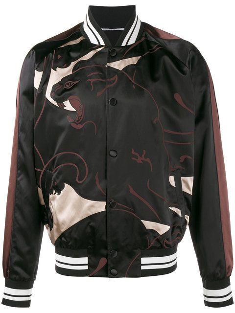 Valentino panther print bomber jacket