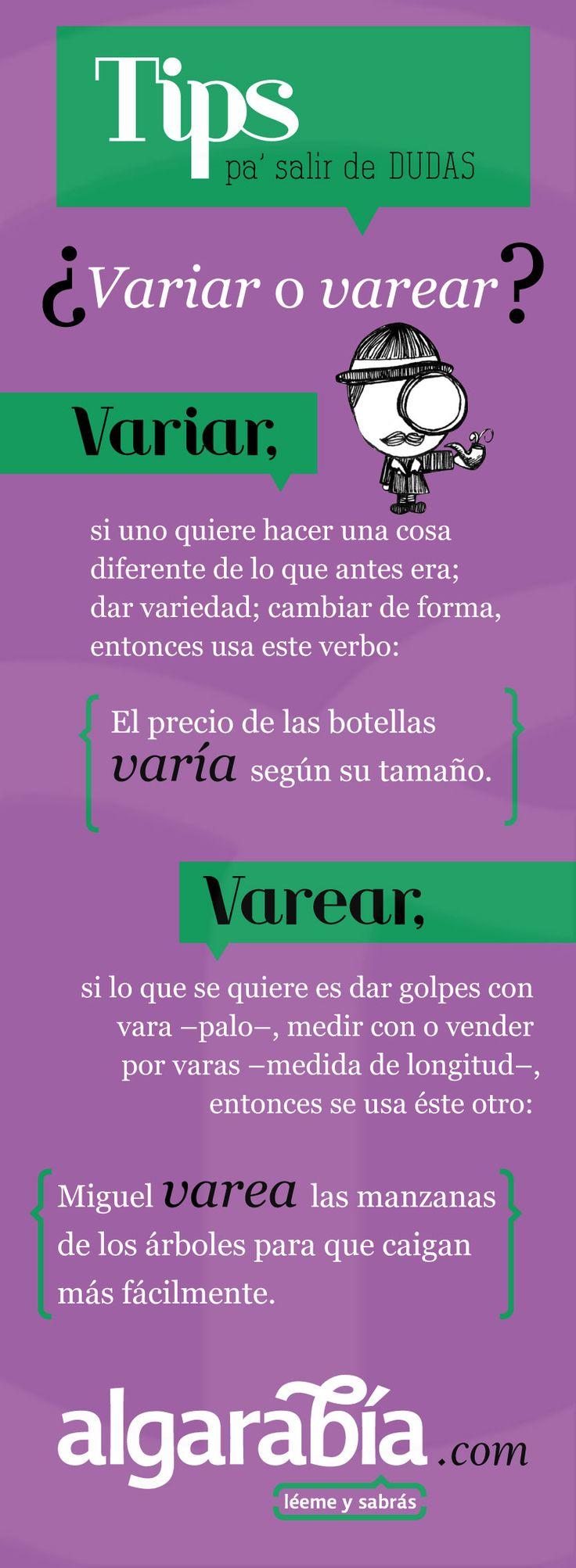 ¿Variar o varear? #tip #lengua #español