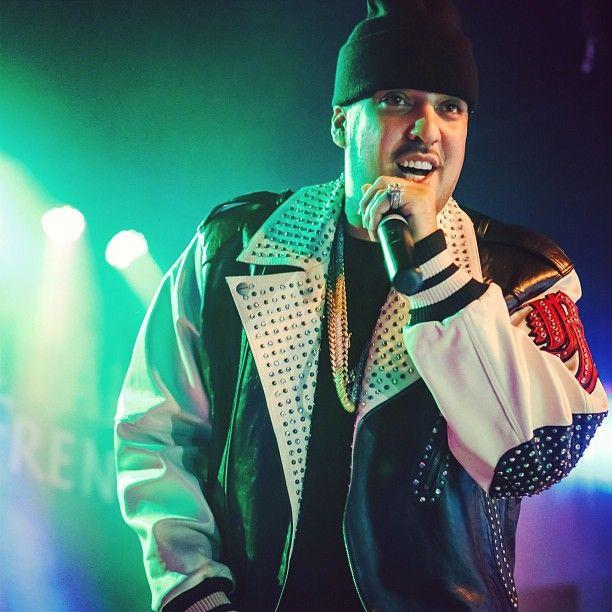 French Montana in a fresh Pelle Pelle jacket