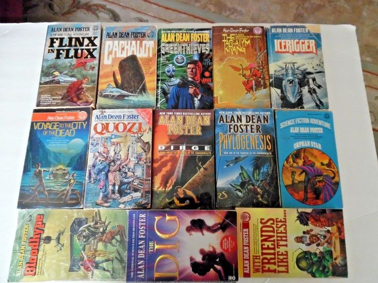 Lot of 13 Science Fiction Books by Alan Dean Foster Paperback
