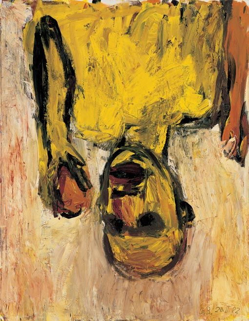 Georg Baselitz, Orangenesser, 1982, olieverf op doek, 146 x 114 cm © Georg Baselitz