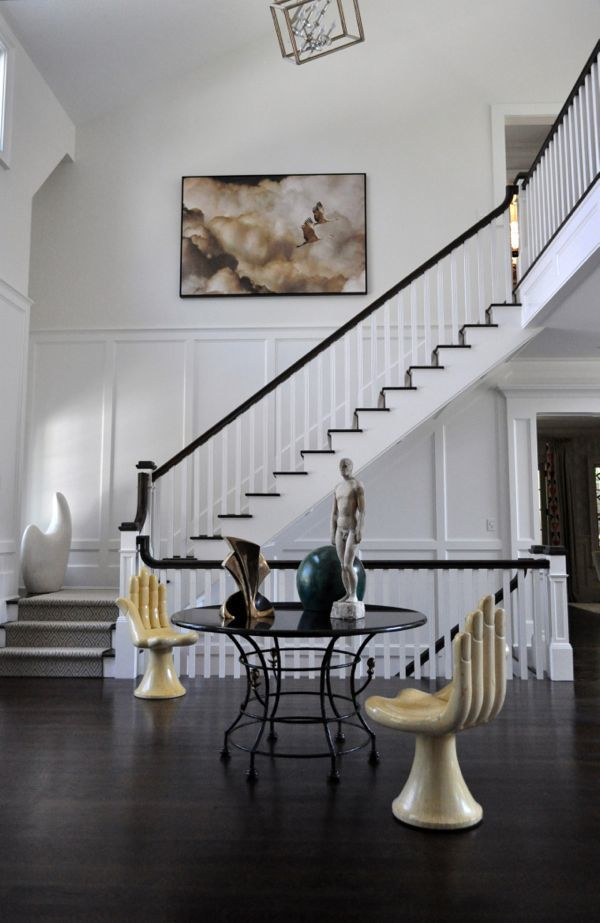 Foyer Room Jersey : Best images about window treatments on uneven stairwell