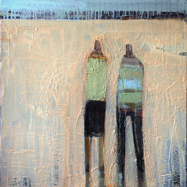 "Katja Leibenath Realms, Two Rivers, A Continent I, 2012 Oil on canvas 24 x 24"" Retail: $990 Courtesy of the Artist and John McEvoy Fine Art, San Francisco"