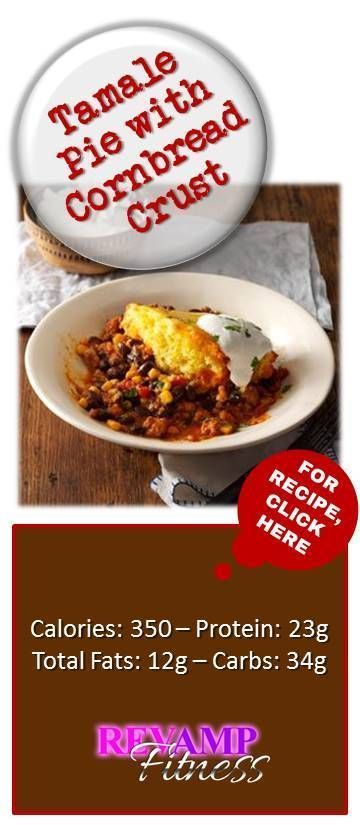 Here's an easy recipe for Tamale Pie with Cornbread Crust : Great in taste - Low in fat ! Visit revampfitness.com for the best weight loss, fitness tips, quick and easy skinny recipes, to live the most healthy and slim life!
