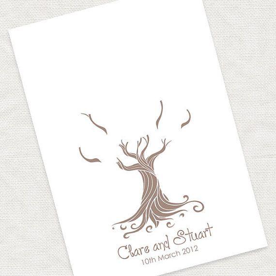 The 25 best wedding fingerprint tree ideas on pinterest wedding whimsical wedding tree fingerprint guestbook by idoityourself pronofoot35fo Gallery