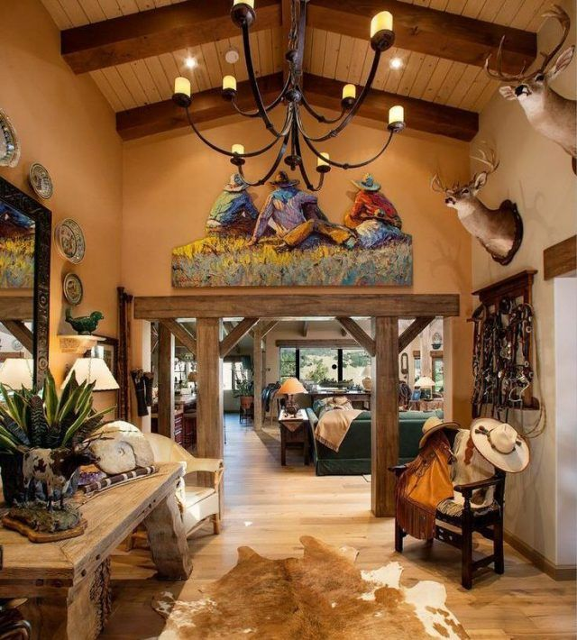 Western Ranch Home Style Western Living Rooms House Furniture Design Western Decor