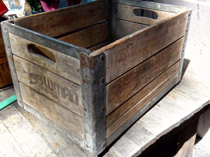 Bowman Crate, 1959 Milk Crate, 1950s Decor, Chicago Bowman Dairy, Wooden Crate, Industrial Decor, Rustic Decor, Farmhouse Decor, Storage by MaxsUniquities on Etsy