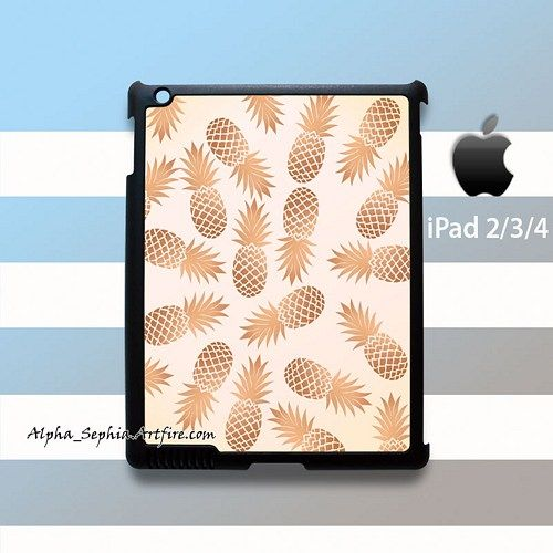 Gold Pineapple iPad 2 3 4 Case Cover