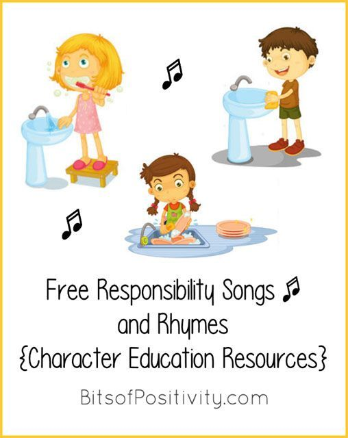 Lots of YouTube videos with free responsibility songs for home or classroom; character education resources for a variety of ages.