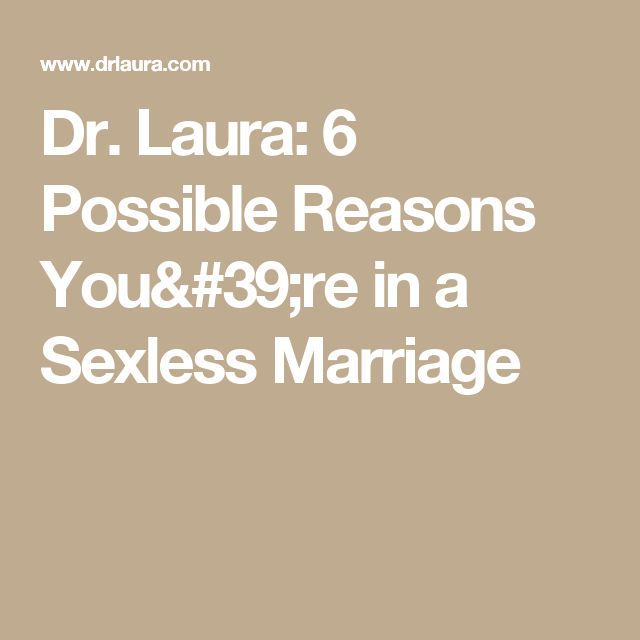 reasons for a sexless marriage