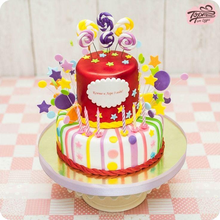 Торт с мастичными леденцами