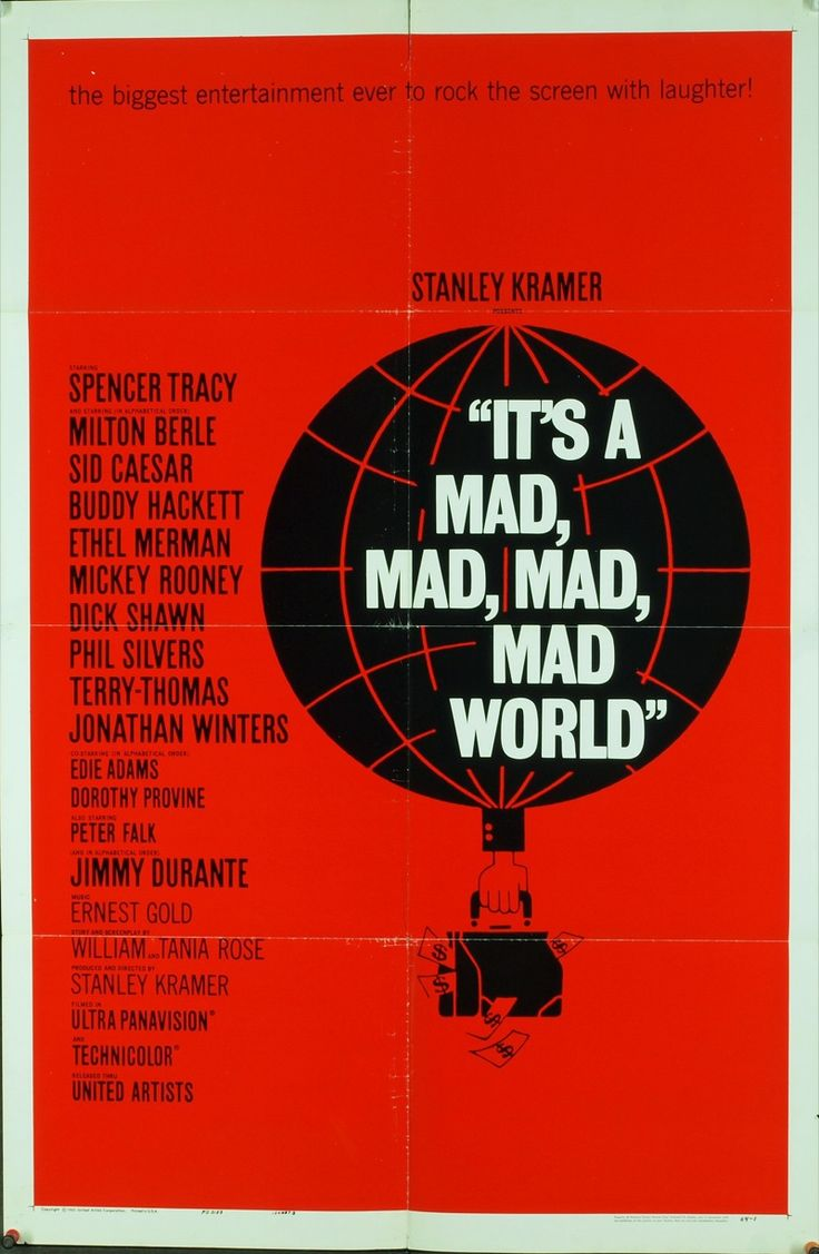 MovieArt Original Film Posters - IT'S A MAD, MAD, MAD, MAD WORLD (1963) 9181, $400.00 (http://www.movieart.com/its-a-mad-mad-mad-mad-world-1963-9181/)