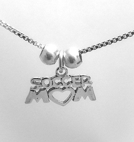 Soccer Mom Necklace Soccer Mom jewelry Sterling by JSueSelling, $22.00