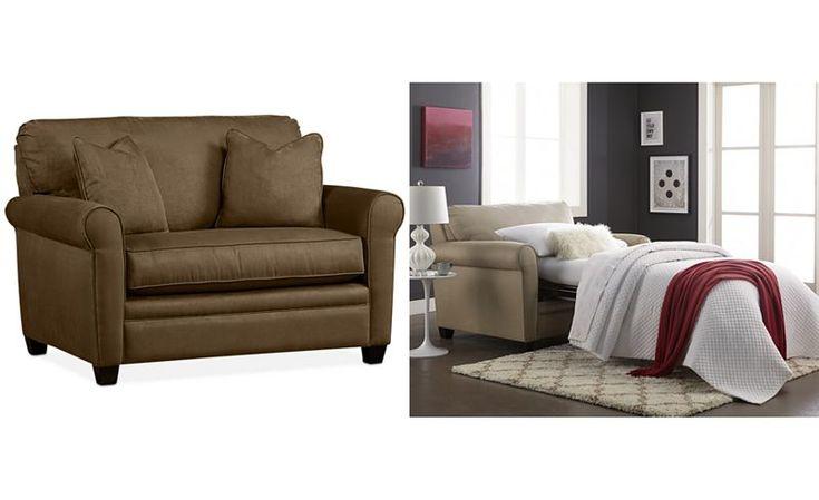 Kaleigh Fabric Sleeper Chair Bed - Apartment Size Sofa - SLP - Macy's