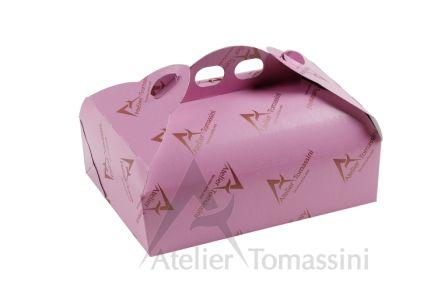Colore: Zucchero Filato Stampa: Flexo Continua Bronzo #packaging #ateliertomassini #portatorte #pasticceria #scatola #pastry #bakery #design #politenata #politenate #imballaggio #bakery #PE-protect