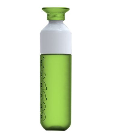 Winner of a 2013 Red Dot Design Award, Dopper bottles keep the whole family hydrated in style. Boasting a cap that doubles as a cup and sleek Dutch engineering, this is no ordinary water bottle! Best of all, it's super easy to wash and refill.  9.45'' H x 2.36'' diameter Polypropylene / ABS plastic BPA-free Dishwasher safe Made in the Netherlands