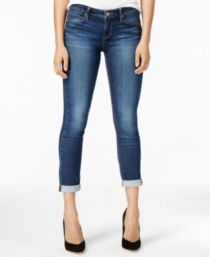 Articles of Society Karen Cuffed Skinny Jeans - Blue 25