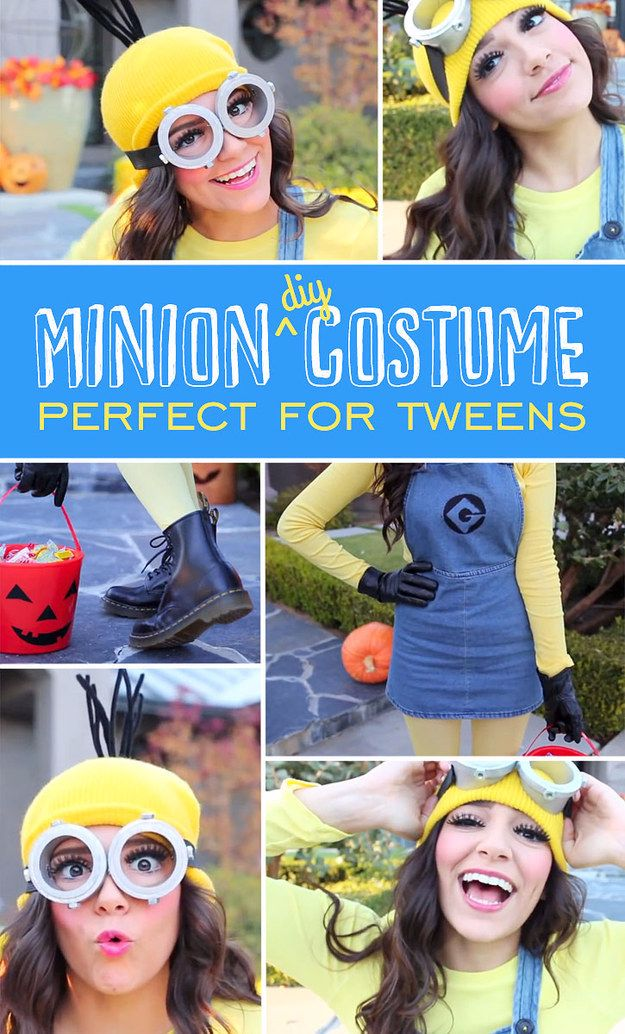 Best DIY Halloween Costume Ideas - mini-skirted-minion-costume - Do It Yourself Costumes for Women, Men, Teens, Adults and Couples. Fun, Easy, Clever, Cheap and Creative Costumes That Will Win The Contest http://diyjoy.com/best-diy-halloween-costumes